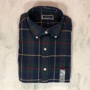 NWT Club Room Plaid Flannel Button Down Shirt M